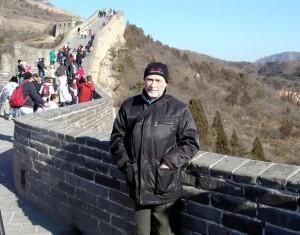 Н.П.Крадин на Великой китайской стене (2007 г.)