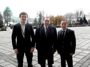 С Вячеславом Никоновым и участником из Эстонии